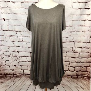Stella McCartney Green Gray Viscose T-Shirt Dress
